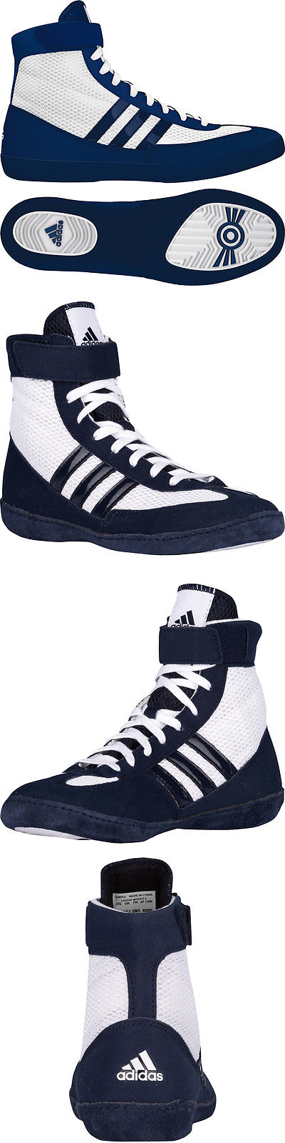892969ae6c4738 Footwear 79799  Adidas Combat Speed 4 Wrestling Shoes - White Navy BUY IT  NOW ONLY   78.0