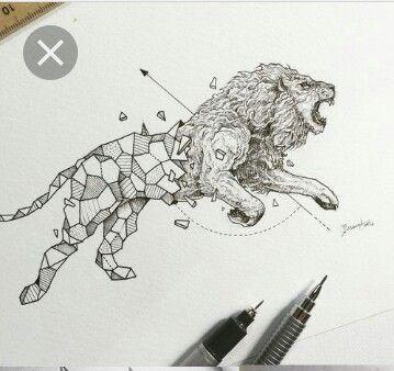 Amazing tatoo.   #lion #wild #animals #art #tatoos