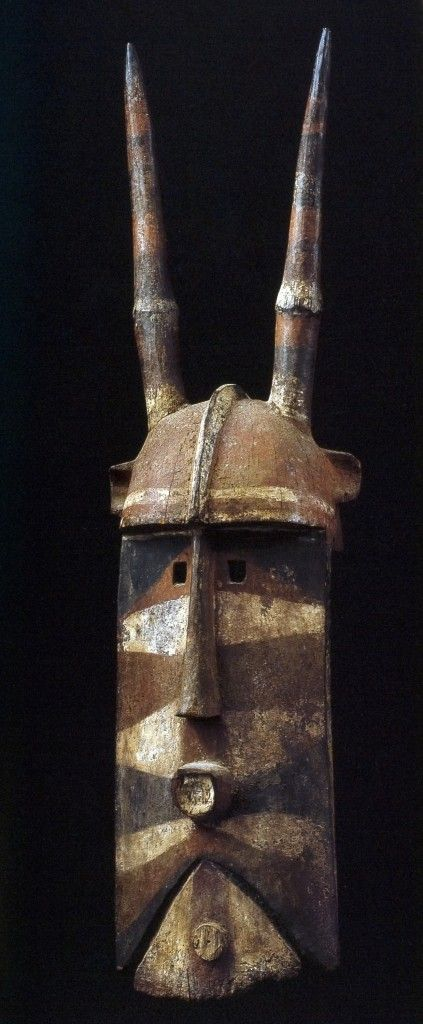 Bobo people, Burkina Faso, Burkina Faso, 0071 Blacksmith-s Female molo Mask- T71182