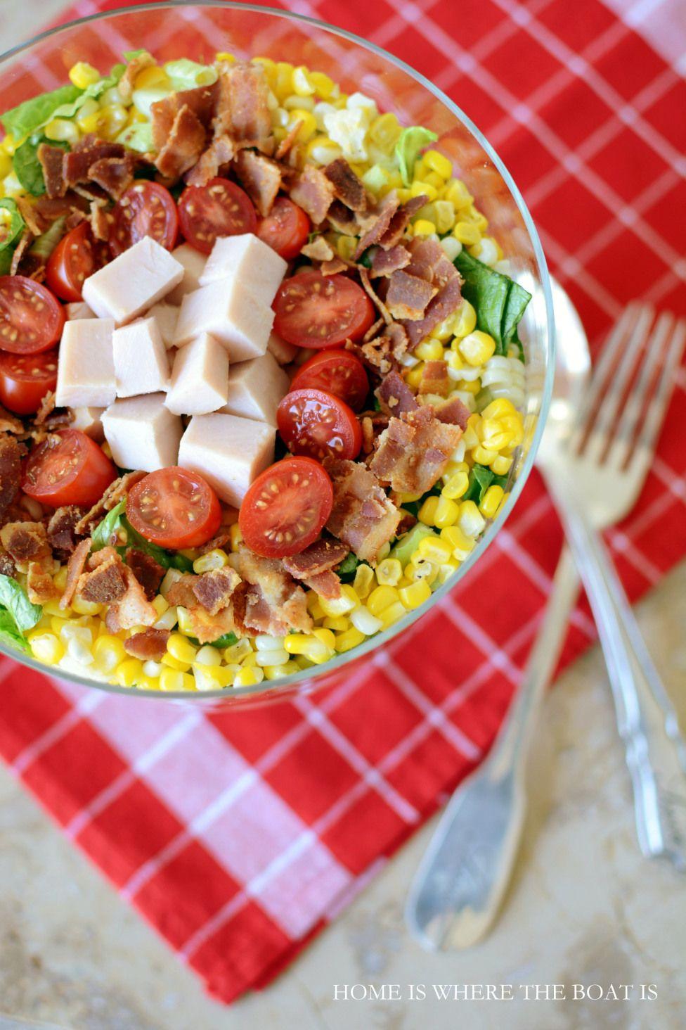 Good Luck Layered Cornbread Salad Layered cornbread