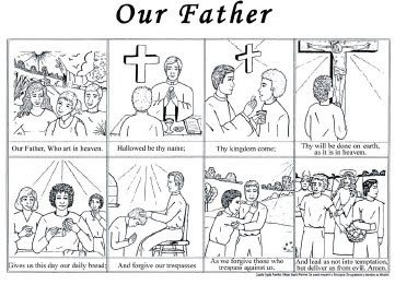 catholic mosaic worksheets guardian angel | Our Father Prayer ...