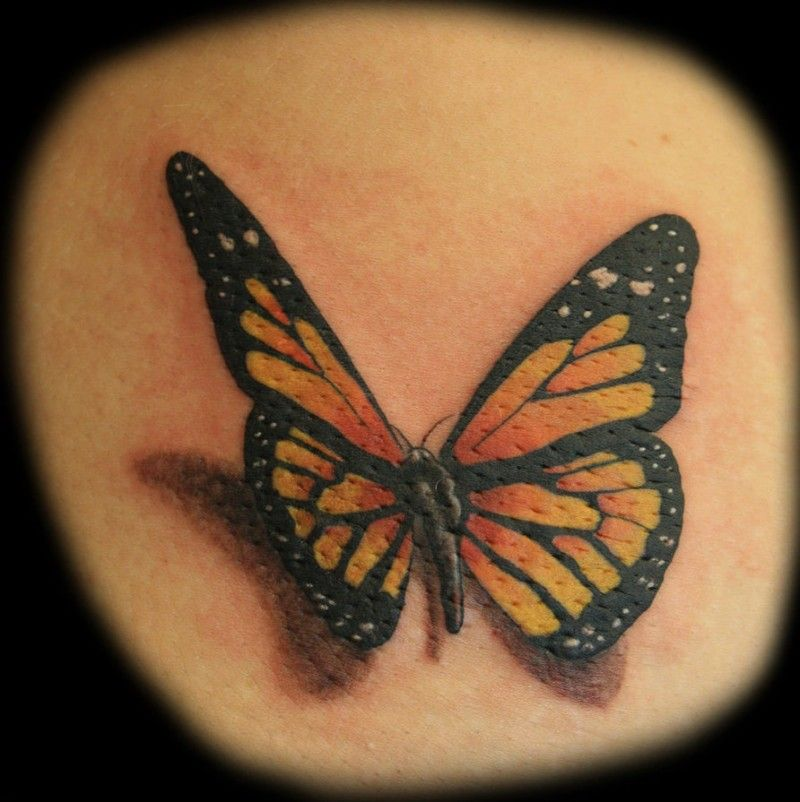 25 Great Ideas About Realistic Butterfly Tattoo On: Large Color Tattoo Butterflies On The Back1