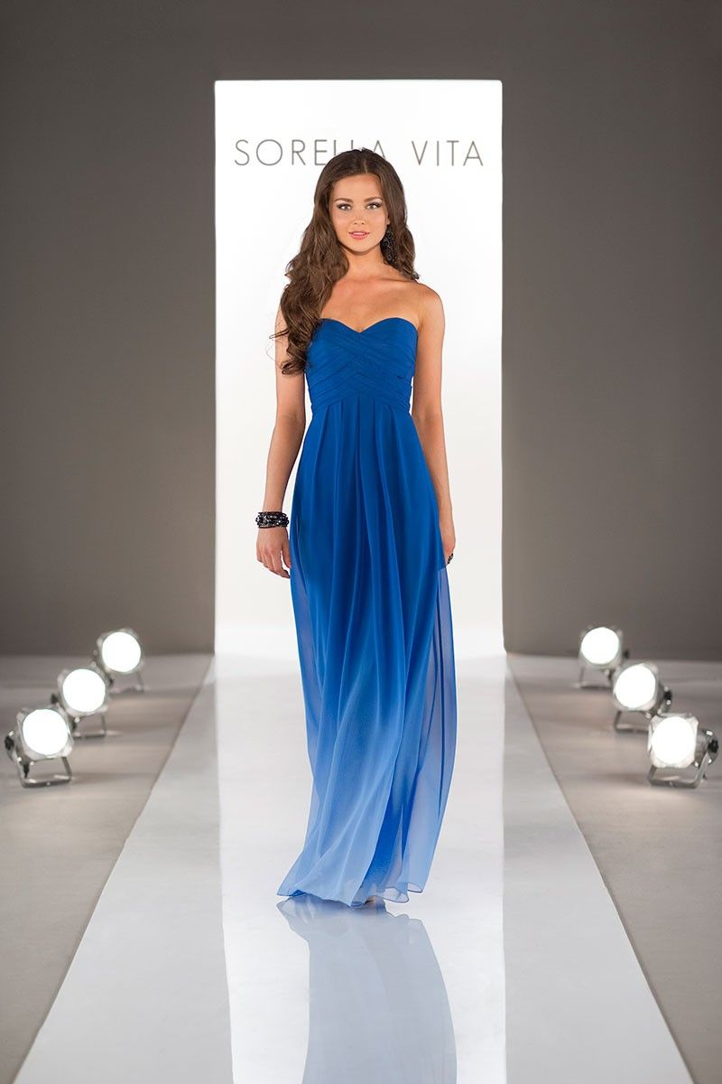 Love this unique yet gorgeous floorlength bridesmaid dress by