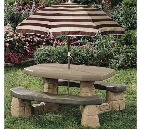 Step2 Naturally Playful Picnic Table Replacement Umbrella 2