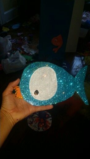Card board fishy for under the sea birthday party.