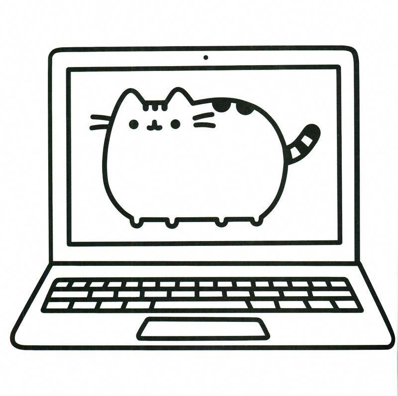 Cute Pusheen Coloring Pages Kids Online - Get These Pusheen Coloring Pages  And Have Fun With It #Lapto… Gato Pusheen, Mandalas Para Colorir, Pintura  Para Crianças