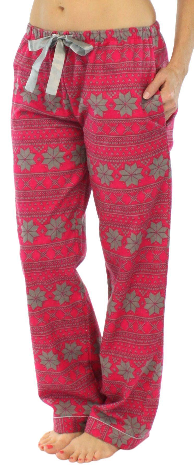 Pajamamania Womens Cotton Flannel Pajama Pj Pants -2911