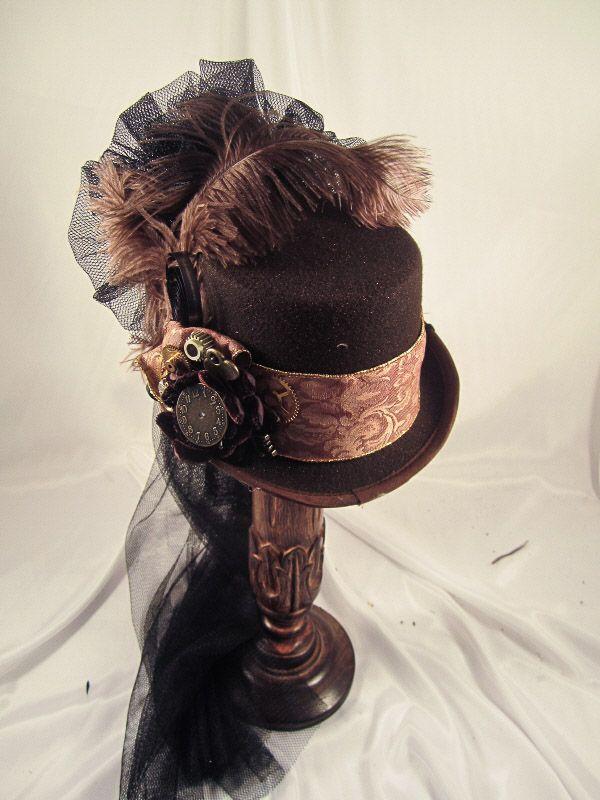 Elsie Massey Steampunk Brown Riding Hat