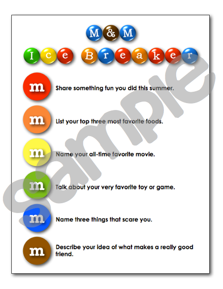 Sample icebreaker activity from my Back-to-School pack. LINK to ...