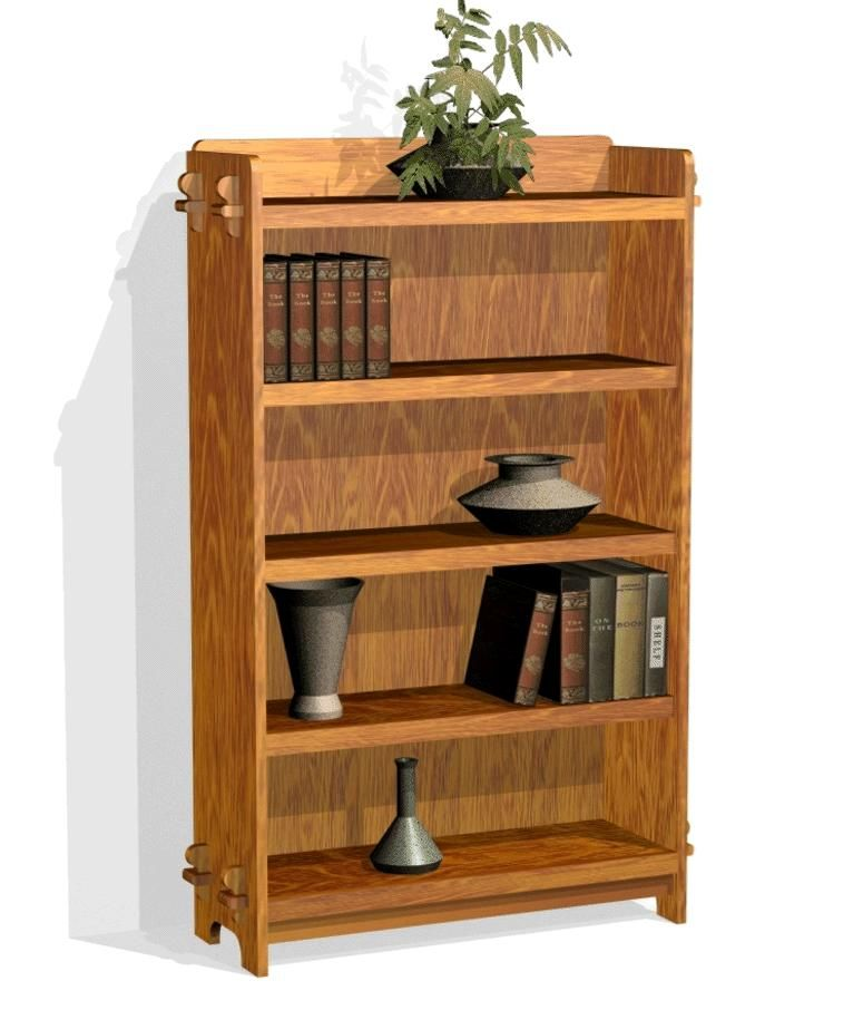 Mission Style Bookshelf Plans