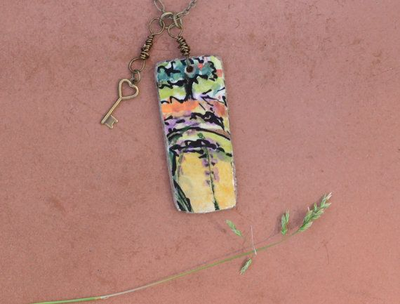 I wish I wish I wish...I was in Italy!!! A Little Bit of Italy Pendant Ceramic Tile by bonnieline on Etsy, $42.00