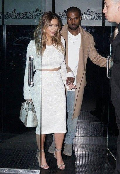 Kim Kardashian Photos Photos: Kim and Kanye Get Dinner in Beverly Hills