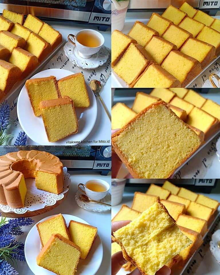Cake Kuning Telur Aka Cake Jadul By Vita Lim Langsungenak Com Resep Kue Camilan Coffee Cake Kue Lezat