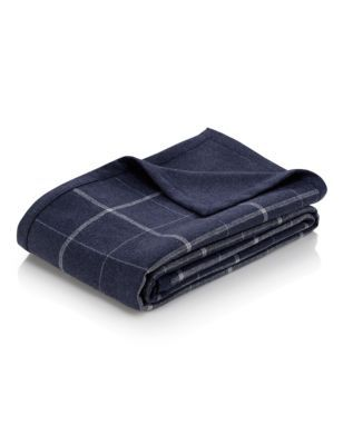 Blue Checked Throw | M&S