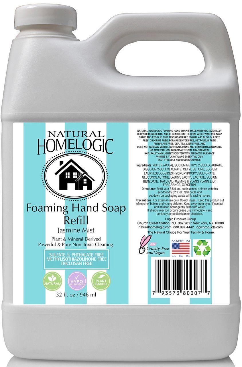 Natural HomeLogic Foaming Hand Soap - 32 oz. Eco Friendly Refill ...