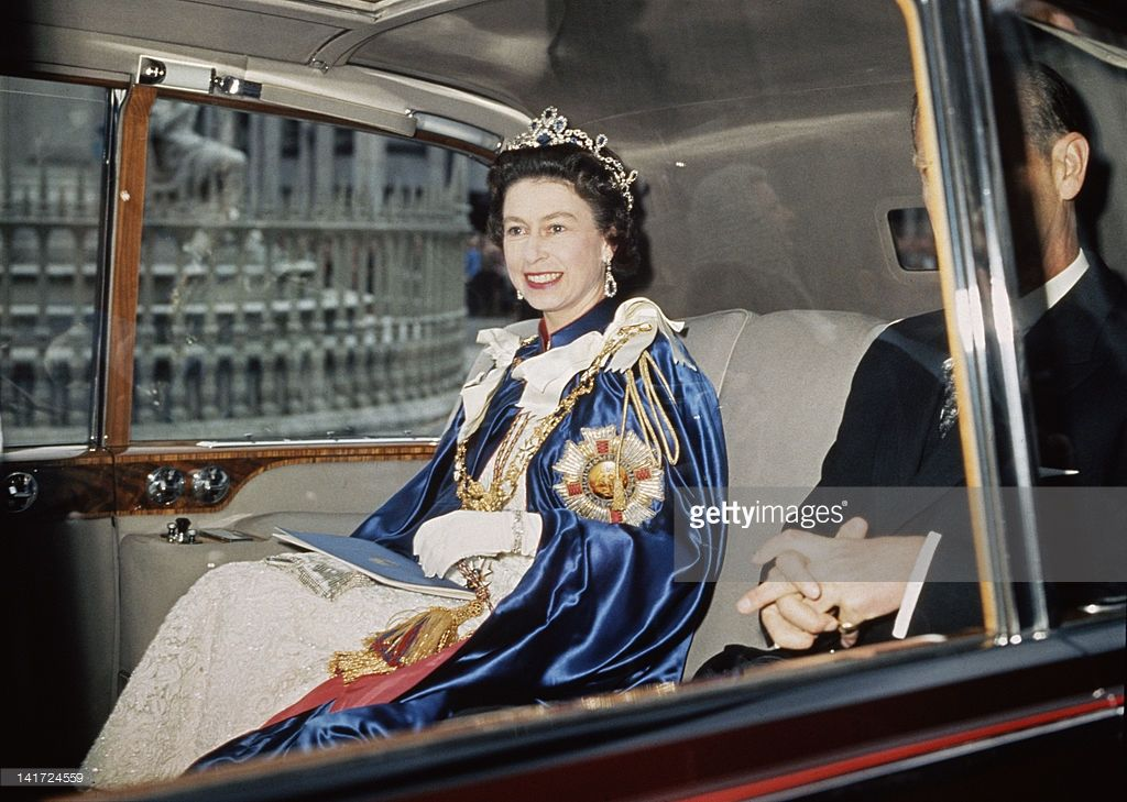 Queen Elizabeth II and Prince Philip attend a service for
