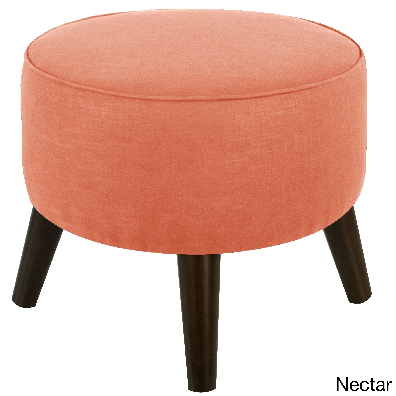 Skyline Furniture Linen Round Ottoman In Linen