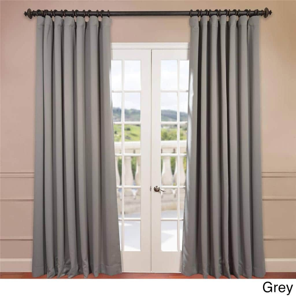 Exclusive Fabrics Extra Wide Thermal Blackout 96 Inch Curtain