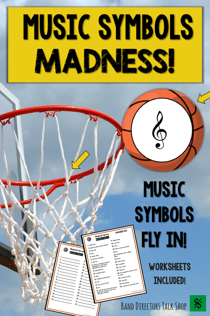 Music Game For March: Music Symbols Madness | Basketball music ...