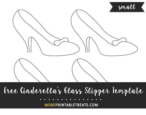 Free Cinderella S Glass Slipper Template Small Size Glass
