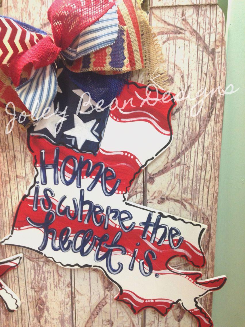 4th Of July Wood Door Hangers