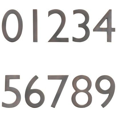 Arch Mbx Dark Aged Copper House Numbers Copper House House Numbers Aged Copper