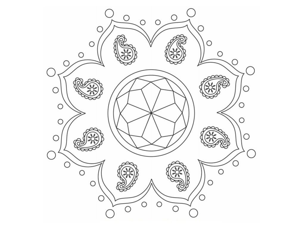 Free Printable Rangoli Coloring Pages For Kids Pattern Coloring