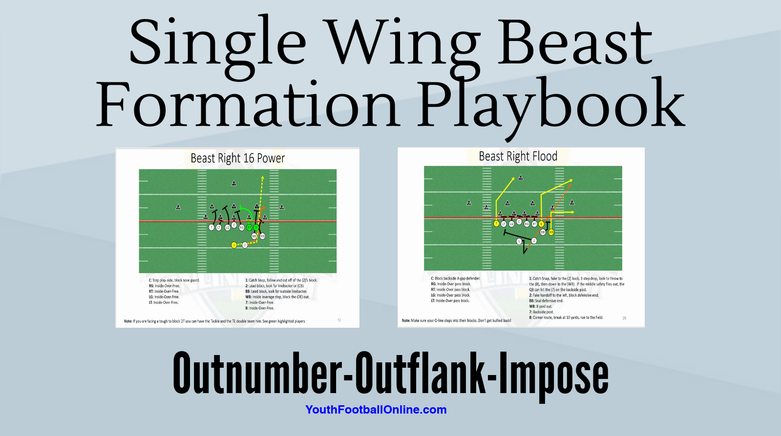 Single Wing Beast Formation Playbook Pdf Playbook Youth