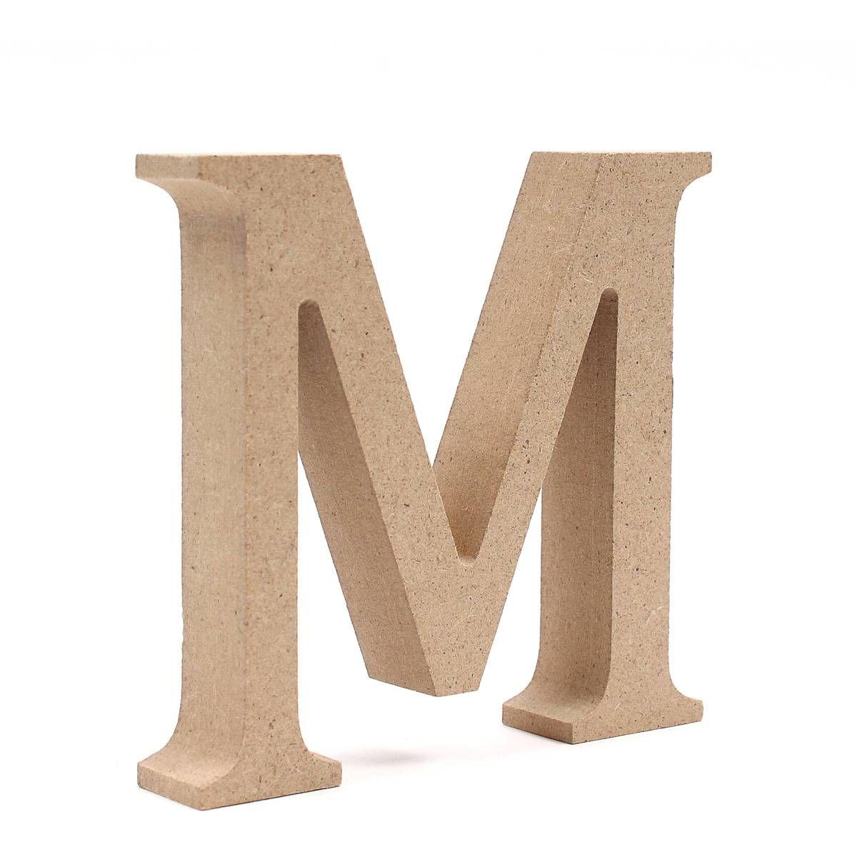 MDF Wooden Letter M 8 cm