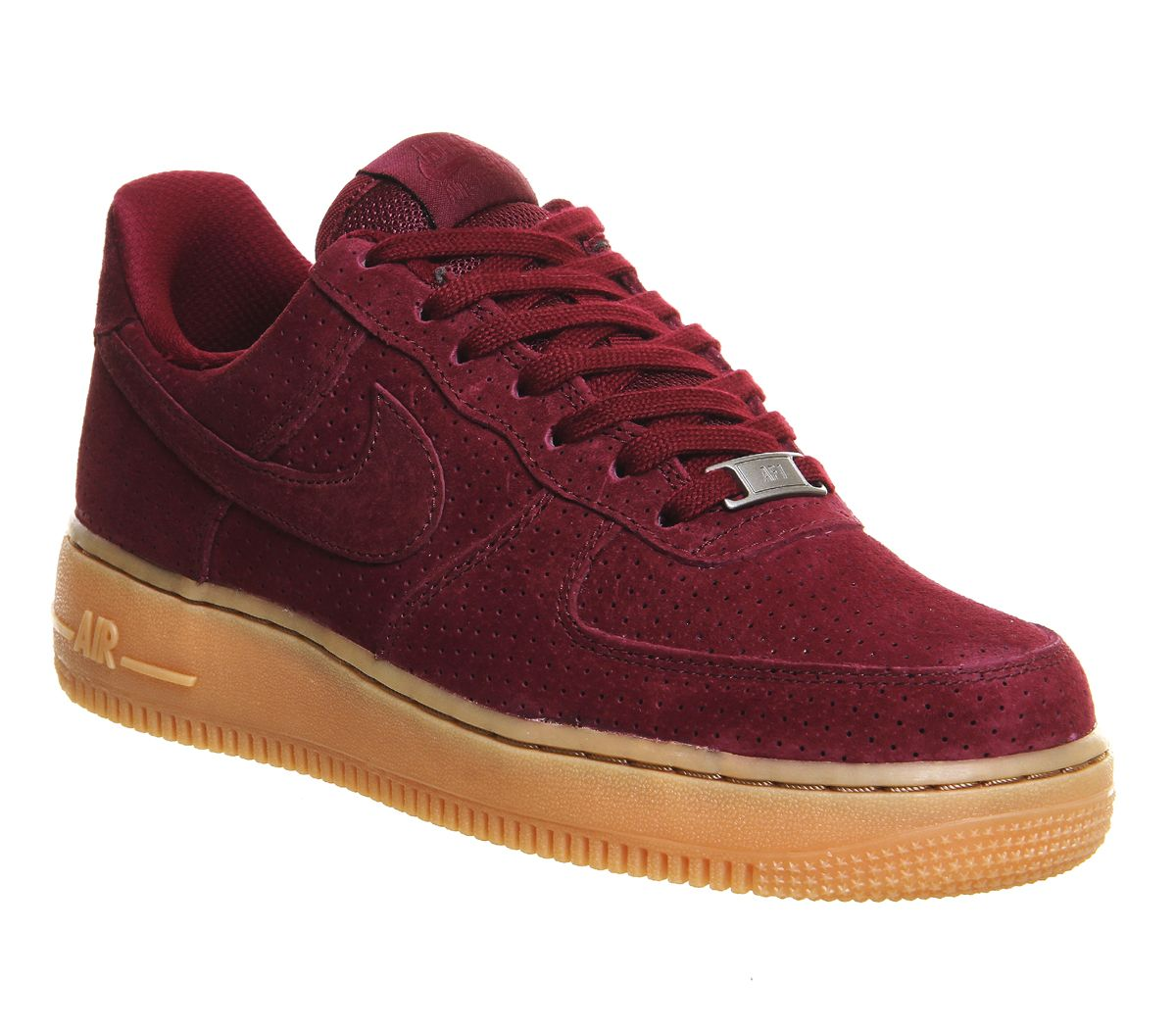 details for factory authentic great deals Buy Deep Garnet Gum Suede Nike Air Force 1 '07 Prm Wmns from ...