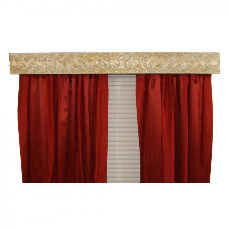 Bcl Drapery Hardware Braid Curtain Rod Valance In Antique White Braw Drapery Hardware Curtain Rods Curtains