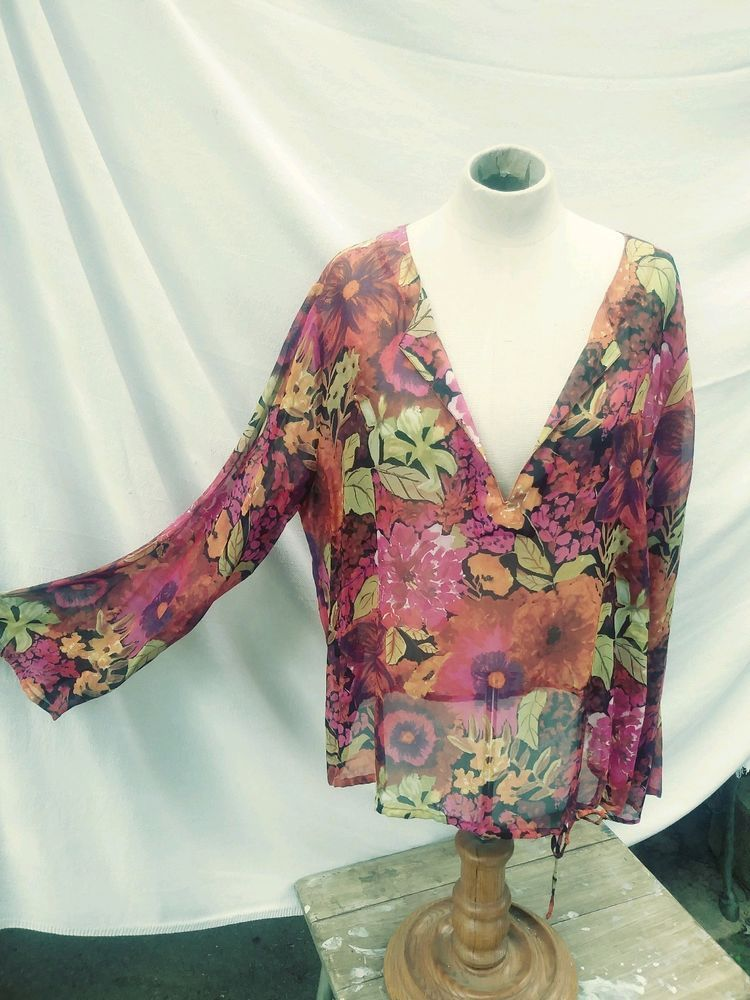 Chicos Blouses Size 2 Fashion Clothing Shoes Accessories