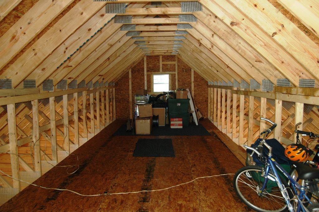 attic storage ideas with trusses - Rafter tie attic room 10 12 pitch Loft