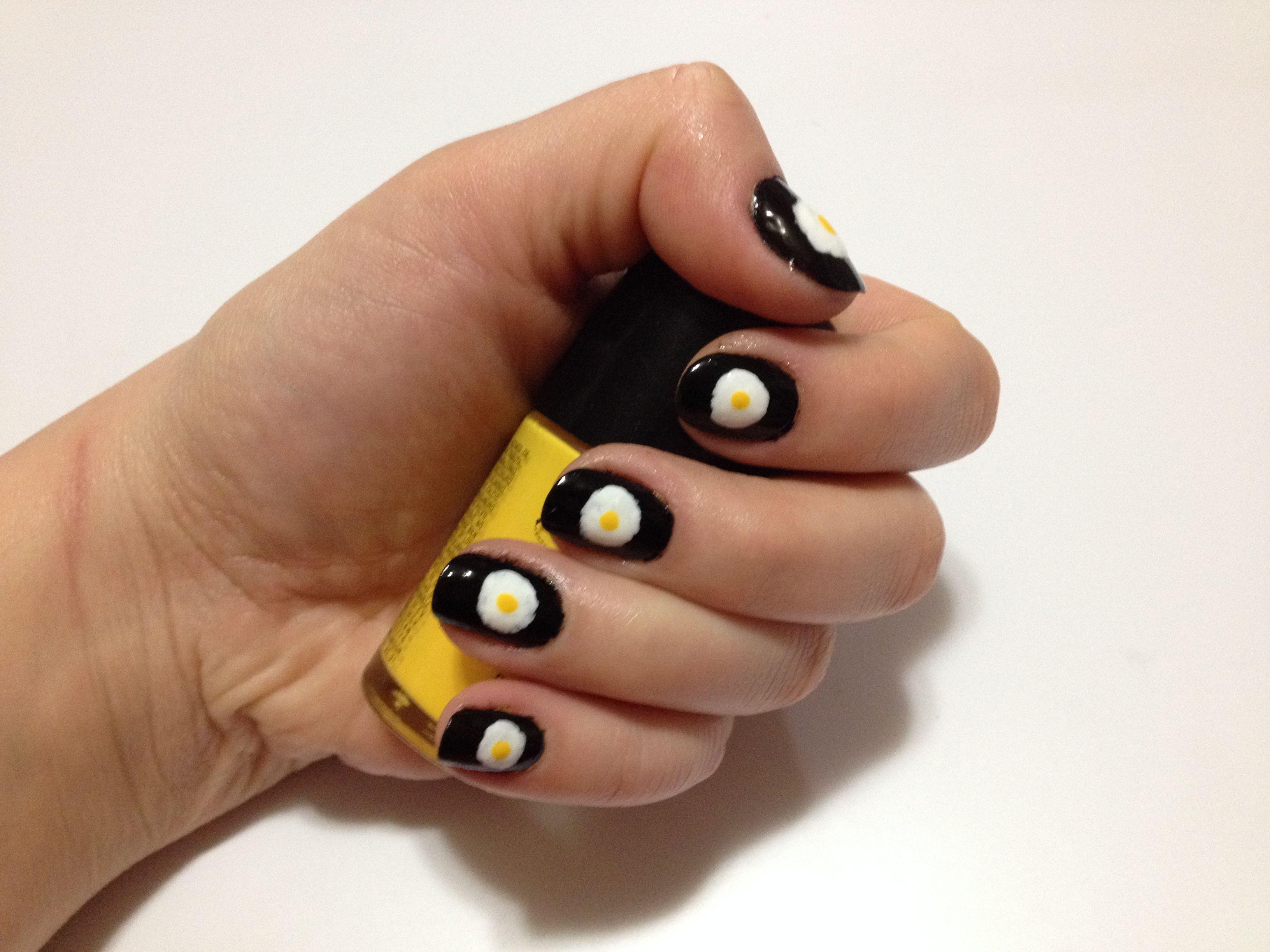 Uñas Con Huevos Estrellados/Nails With Fried Eggs | Uñas/Nails ...