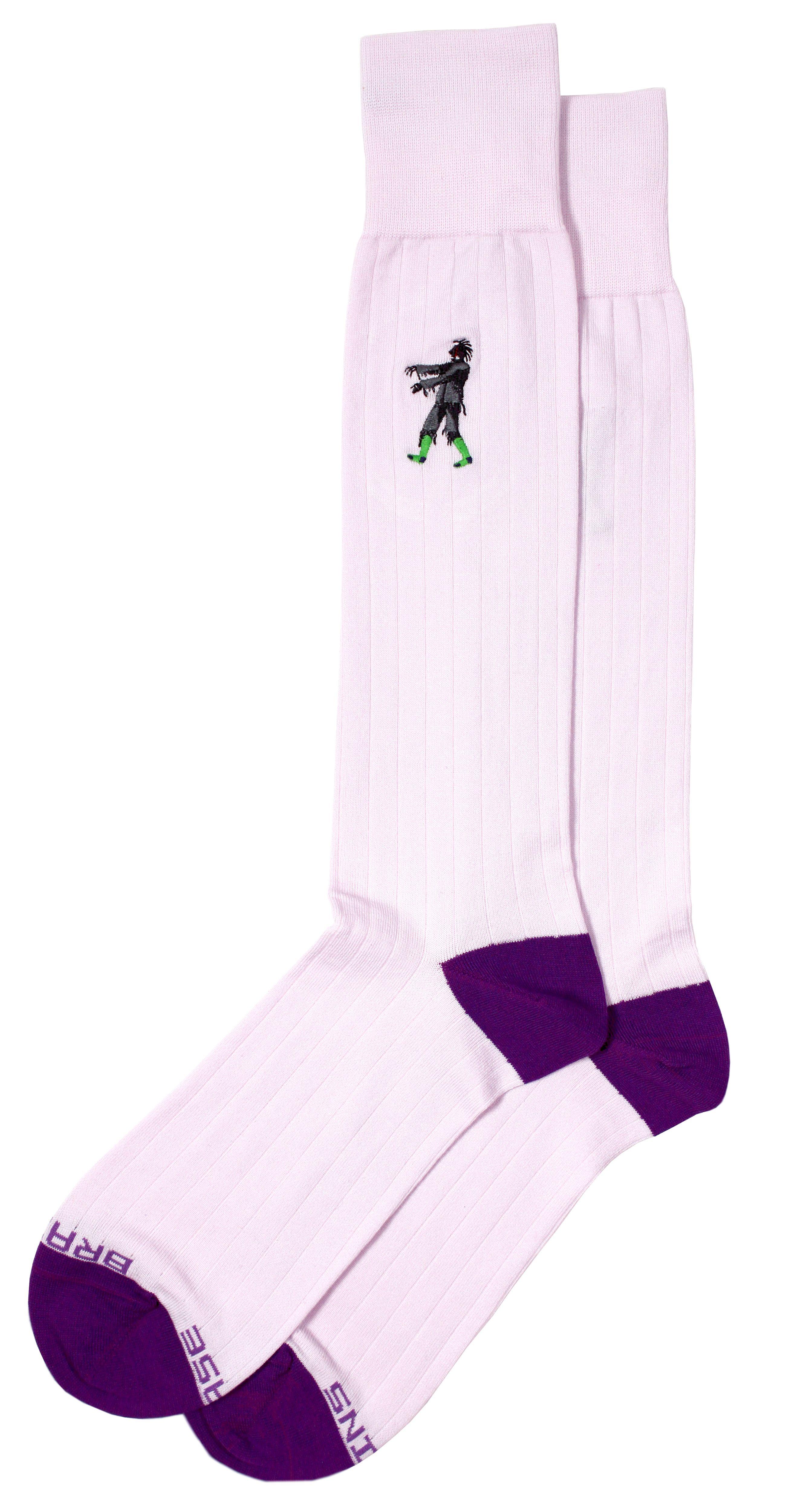 Purple dress socks  These themed dress socks feature Peruvian Pima cotton in a classic