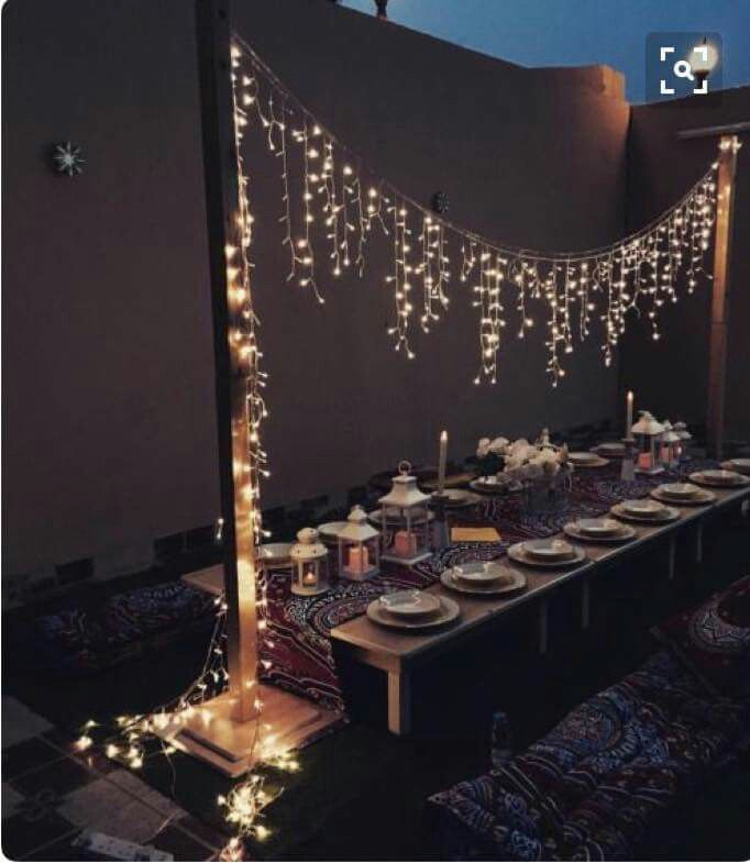 Outdoor Dining Decorations For Ramadan Iftar