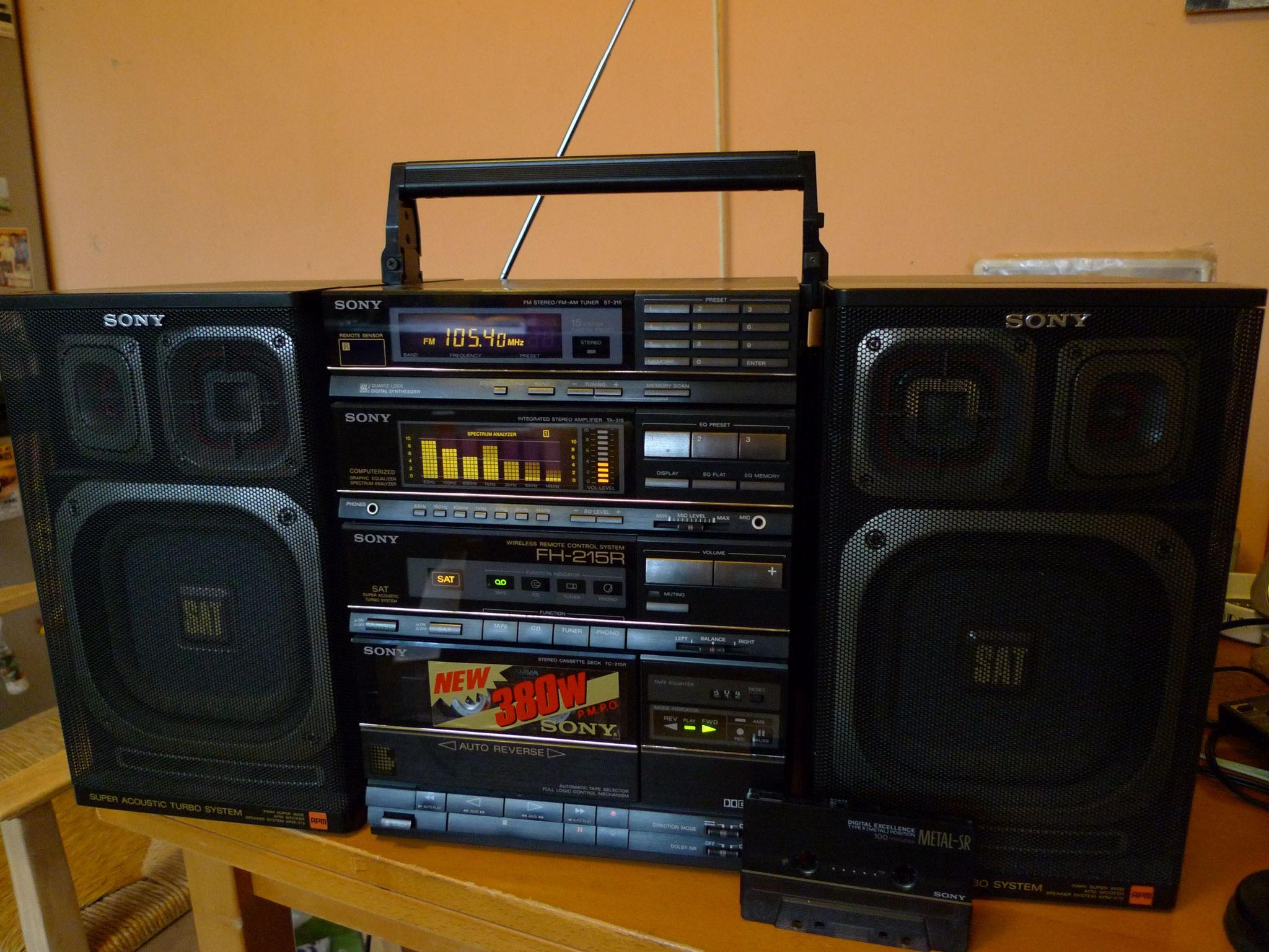 Sony Fh 215 Radio Antigo Radios Aparelho De Som