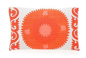 14x24 Kantha Pillow, Suzani
