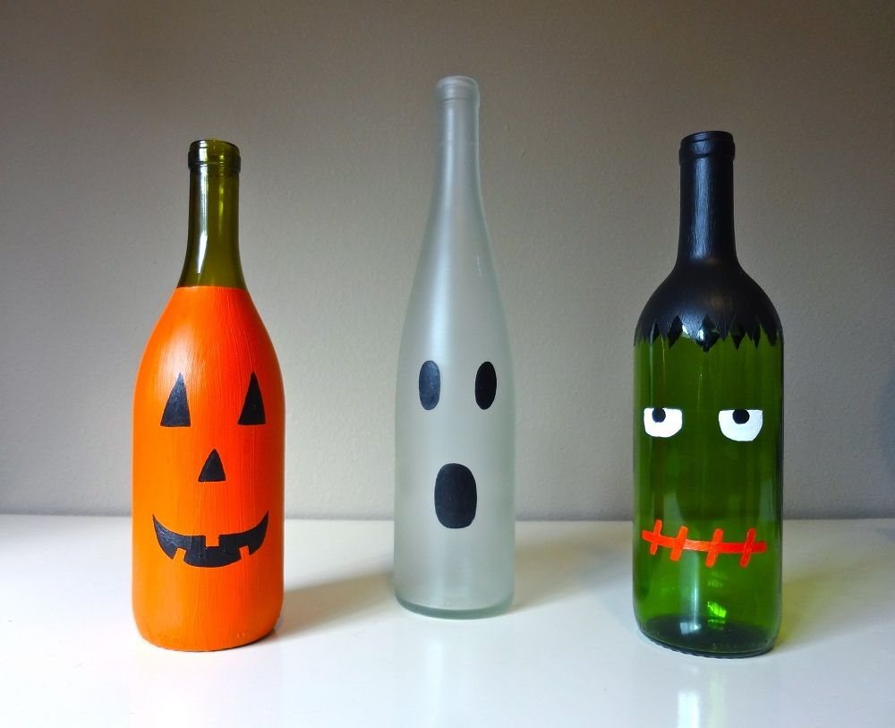 How To Decorate Wine Bottles For Halloween Diy Wine Bottle Mummy  3 More Halloween Wine Bottle Crafts