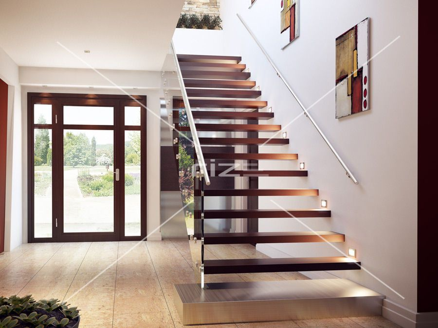 Modern Glass Stairs Glass Balustrade Modern Stairs | Stairs With Glass Sides