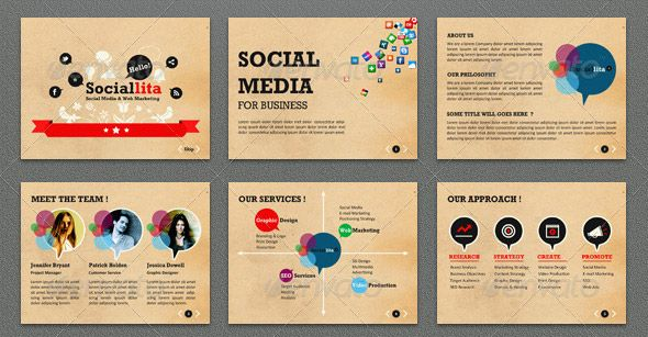 SociallitaPowerpointTemplate  Power Point Ideas