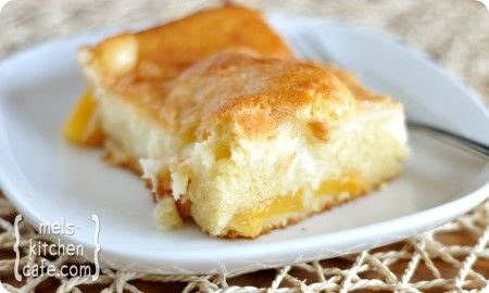 Peachy cream dessert cake