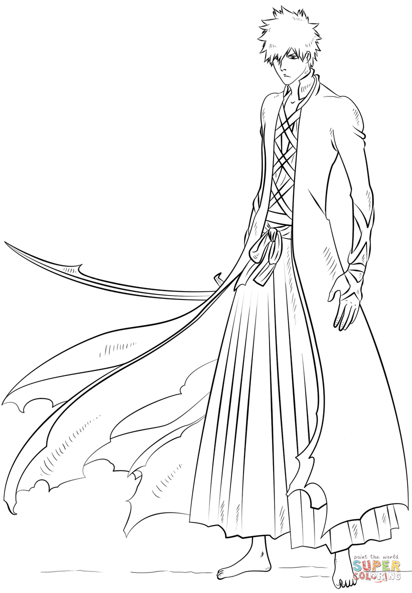 Bleach Ichigo Coloring Pages Coloring Pages Drawings Shading Drawing [ 1186 x 824 Pixel ]