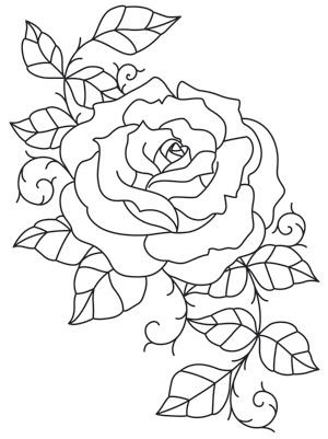 intricate lines wind and twist together to form this unique rose design downloads as a