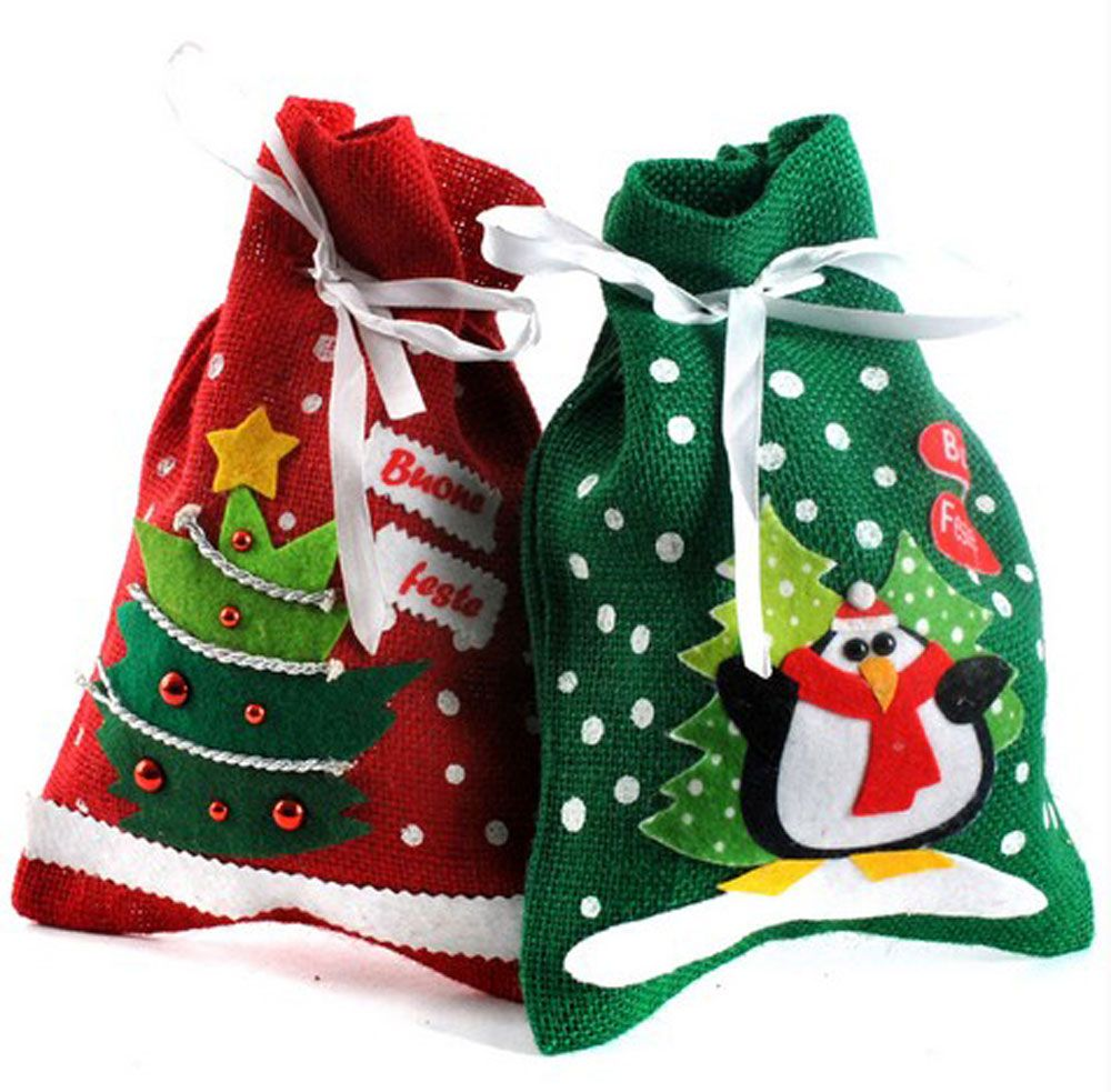 Hot Sale Christmas Tree Shape Style Gift Bags Christmas Candy Bags ...