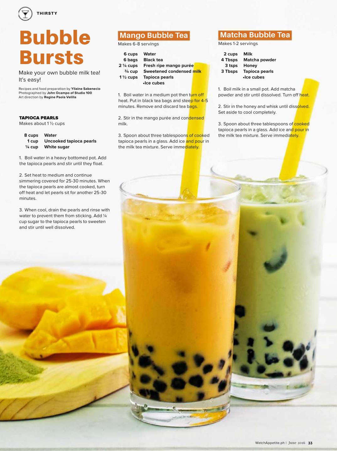 mango bubble tea and matcha bubble tea bubble tea recipe boba tea recipe milk tea recipes pinterest