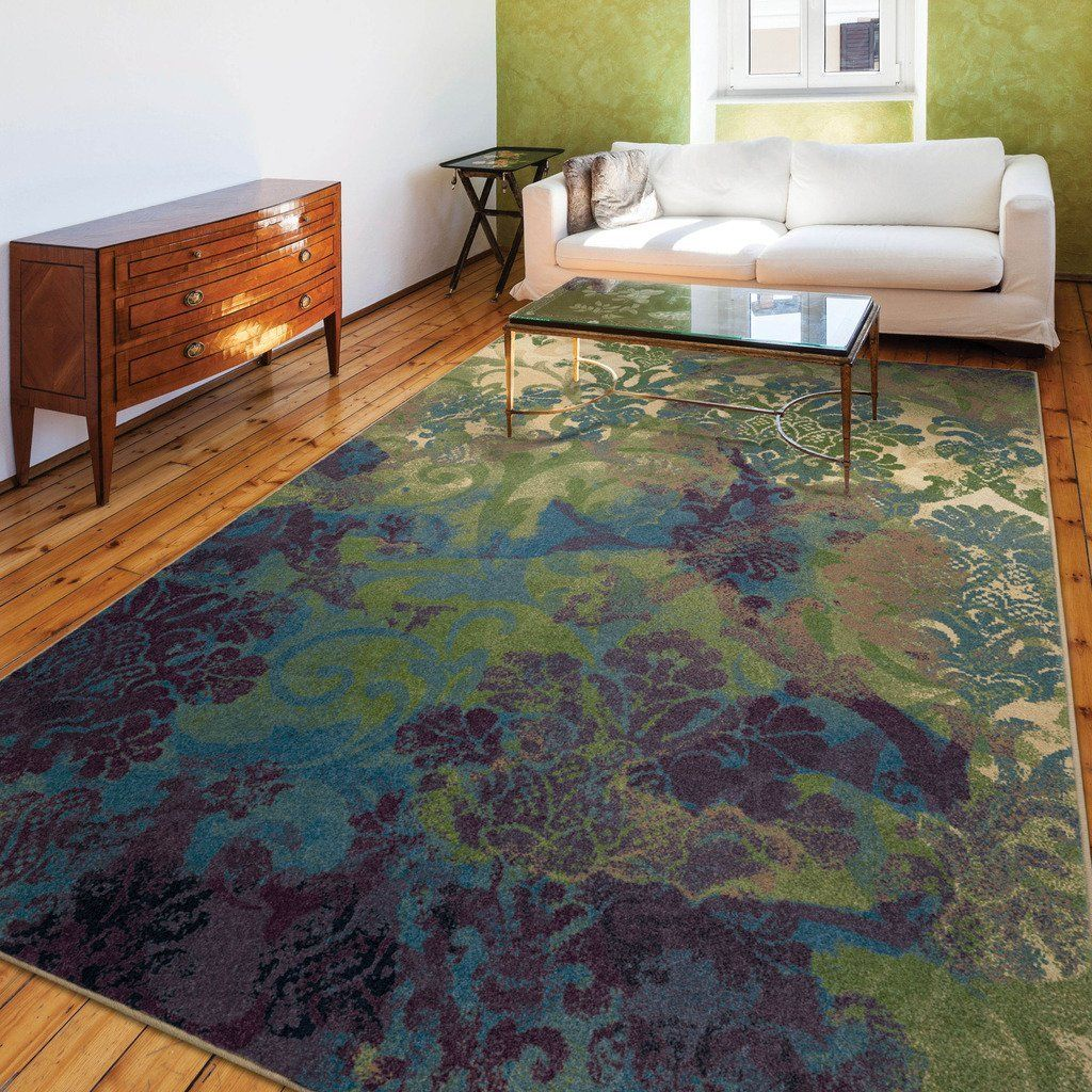 Funky Purple And Green Area Rugs The Fresh Start Color