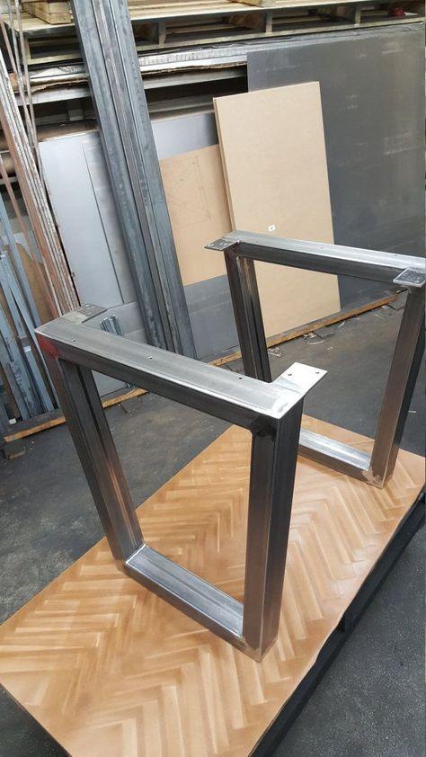 Trapeze Pieds En Acier Modele 012 Table A Manger Industriel