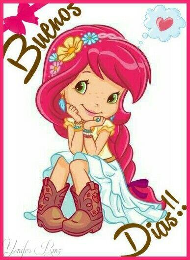 Strawberry Girl Cartoon Wallpaper Buenos Dias La Ni 209 A Fresa Good Morning Buenos Dias