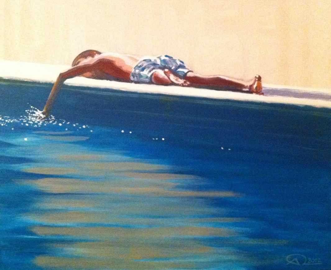"""Aiguadolç"" - acrylic on canvas 60x50cm - Antoine Renault 2012 - http://antoinerenault.com/    http://www.facebook.com/AntoineRenaulthttp://www.facebook.com/AntoineRenault"